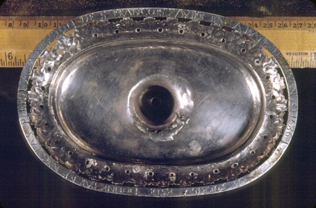 the base of the monstrance - photo : Neville Public Museum of Brown County